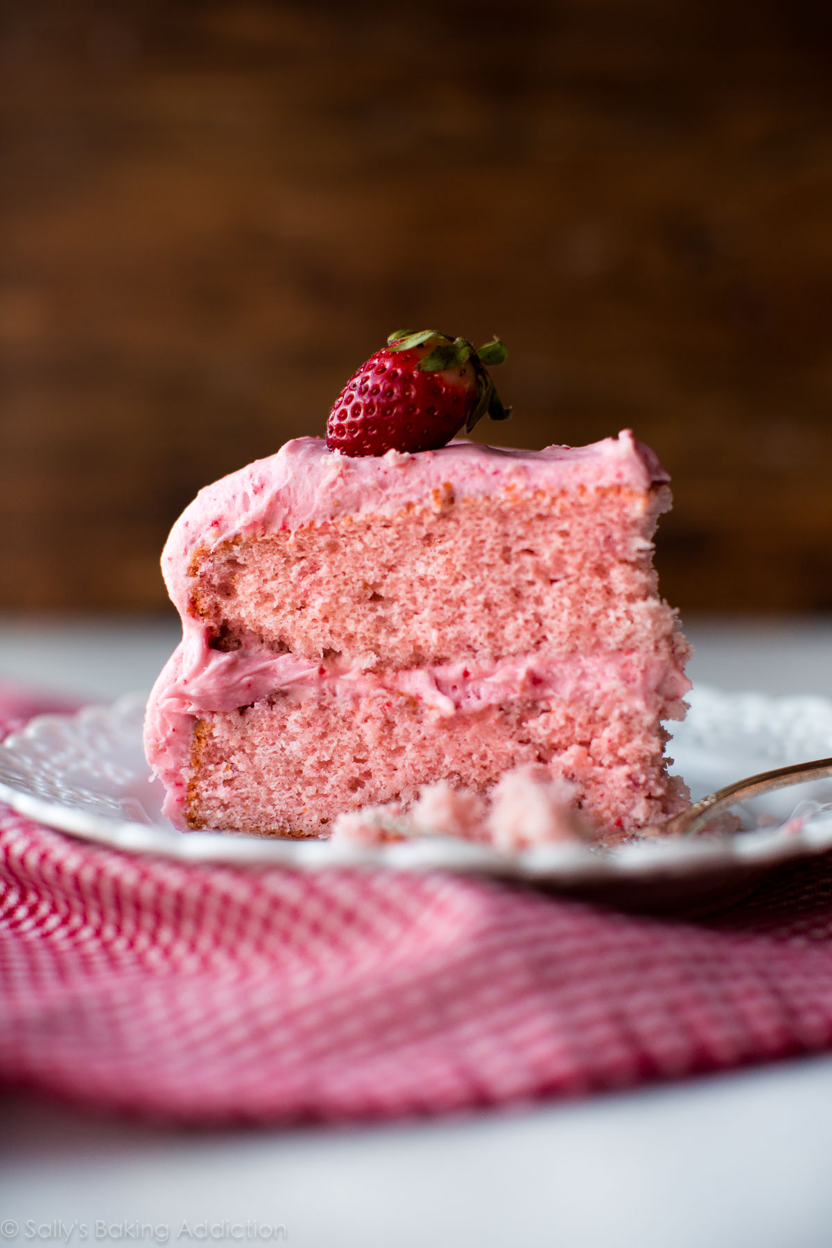Strawberry Cake Made From Scratch
