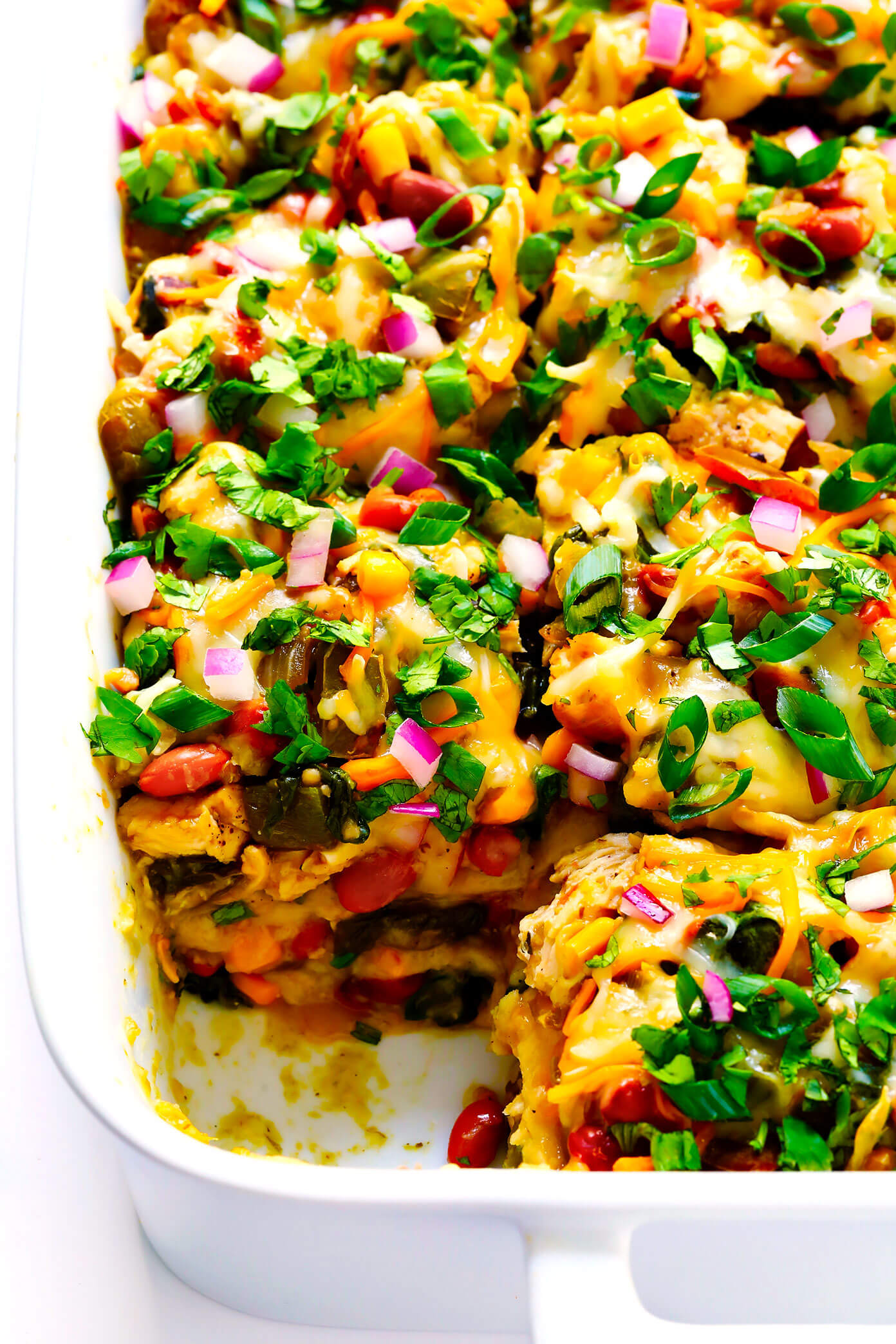 Verde Chicken Enchilada Casserole Gimme Some Oven